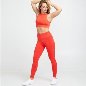 New SoulCycle x Nux One by One Red Legging